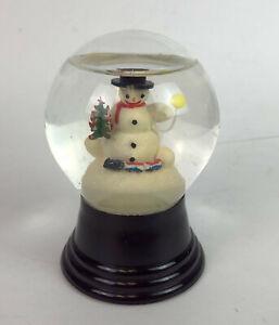 vintage AUSTRIAN SNOW GLOBE christmas snowman
