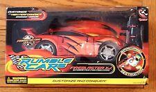 NIB Rumble Cars Fireblaster XJ RC Interactive Fighting Car &3 Power Pack Upgrade