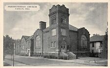 B74/ Caldwell Ohio Postcard Noble County c1940s Presbyterian Church Building