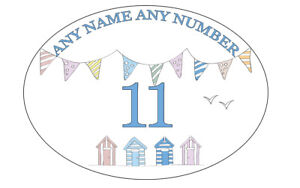 PERSONALISED METAL HOUSE SIGN HOUSE NUMBERS ARCHED CARAVAN SIGNS BEACH HUTS
