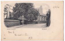 London, Bromley, Parish Church Vignette PPC,Lewisham 1902 Duplex PMK, UB