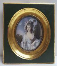 Haffke Miniatur  Gemälde nach Gainsborough Lady Graham 14 x 12 cm 162 /1
