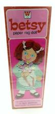 VINTAGE BETSY PAPER RAG DOLL & CUT OUTS SET BY WHITMAN SEALED