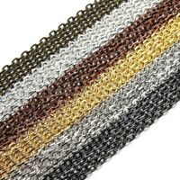 5M Gold/Silver Plated Open Link Iron Metal Cable Chain For Jewelry Making DIY