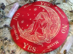 Wooden Pendulum Board for answers, divination tools, witchcraft altar decor