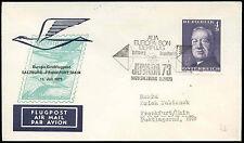 Austria 1973 FFC First Flight Cover, Salzburg-Frankfurt #C16835