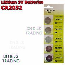 5x CR2032 3V Lithium Coin Battery Watch Car Alarm Key Fob Toy Camera CR 2032