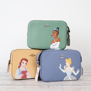 NWT Disney X Coach Mini Camera Bag with Cinderella/ Belle/ Tiana