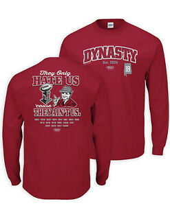 Alabama Dynasty Tee T-shirt 2XL National Champs Smack LS They Hate Us Unisex