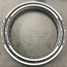 Yamaha TY250/350 S/R/Pinky Mono SM Pro Platinum AVANT & Jante Arrière Set Silver