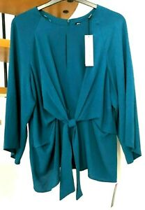 ☆Gorgeous Roman Tie Front Top, Teal☆Size 18☆Brand new with tags! £28☆