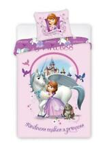 Sofia die Erste Prinzessin Einhorn Bettwäsche 100 % Baumwolle Unicorn