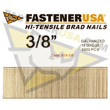 "3/8"" 18 Gauge Straight Brad Finish Nails 18 ga (5,000 ct)"
