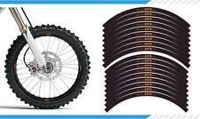 "EXCEL KTM ORANGE MOTOCROSS MX RIM DECALS GRAPHICS STICKERS 21"" / 18"" BLACK"