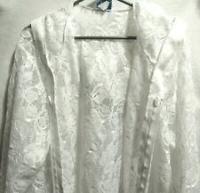 GORGEOUS COCO BAY MIAMI WHITE LACE SWIM SUIT COVER UP HOODY JACKET FRONT ZIP SZ?