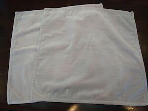 Pair Grey Velvet Pottery Barn Pillow Covers