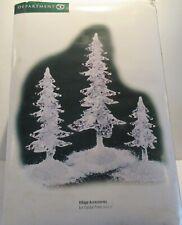 Dept 56- Heritage Village- Ice Crystal Pines- Set Of 3- Lighted - #53081-Nib