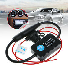 New 12V 25dB Car FM Radio Antenna Amplifier Booster with Indicator Model ANT-208