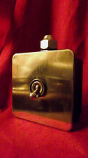 "Vintage Industrial Light Switch ""Crabtree"" 1 One Gang Cast Iron Brass Plate"