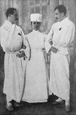 6x4 Gloss Photo ww1AC0 World War 1 Nurse Red Cross & Patients Reproduction Print