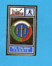 CAMPIONI SPORT 1969-70-PANINI-Figurina- FIT TENNIS -STEMMA/BADGE-Rec