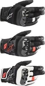 Alpinestars SMX Z Drystar Gloves - Motorcycle Street Bike Waterproof Leather Men