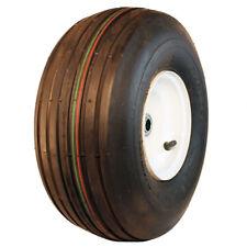 New 15x6.00-6 Rubber Master Rib Tire & Lawn Tractor Front Rim Wheel Kit-R2