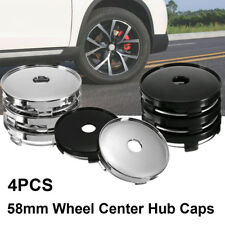 4pcs 58mm ABS Universal Car Wheel Tire Rims Center Hub Caps Cover Decorative