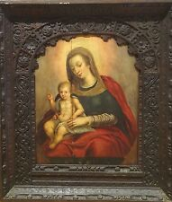 BELLE GRANDI DIMENSIONI 16th secolo ITALIANO OLD MASTER Madonna & Child ANTICO DIPINTO AD OLIO