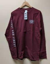 """Official STIHL """"First And Finest"""" Maroon Long Sleeve T-shirt - L & XL Sizes"""