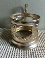 Vintage Russian Soviet podstakannik Garlands tea glass holder Aluminum USSR