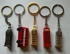 5x METÁLICO LLAVERO BUS,BIG BEN,CABINA TELÉFONO,LONDRES INGLATERRA