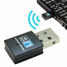 300 Mbit Mini WiFi WLAN Wireless Adapter USB 2.0 Stick Dongle Windows Win 7 8 10