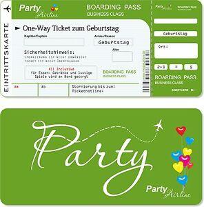 8 Einladungskarten Kindergeburtstag mit Abriss-Coupon Kinder Geburtstag.