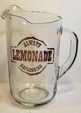 New listing Libbey Always Refreshing Lemonade 2Qt Glass Pitcher J