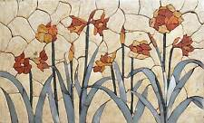 Flower Mosaic Mural Tile Art