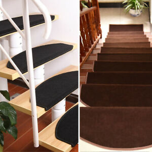 15Pc Carpet Stair Treads Mats Floor Protection Cover Step Staircase Pad Non Slip