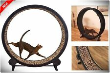 Cat Exercise Wheel Treadwheel Run Treadmill Catwheel Play Toy Kitty Indoor
