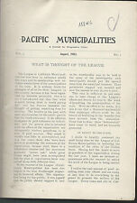 Pacific municipalities league of california cities newsletters bound 1903-05 hc
