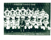 1948 SYRACUSE CHIEFS 8x10 TEAM PHOTO BASEBALL NEW YORK
