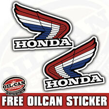 2x HONDA wings pair of stickers 54 X 68mm