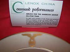 "All-Star Game 1961 Lenox Plate given to Players of the 1961 "" Actual Game ""Rare"""
