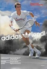 "Classic 1986 Adidas ""Lendl""  Tennis Collection Vintage  Print Ad"