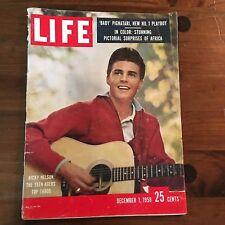 "Lot of 2 Vintage 1958 "" Life "" Magazines"