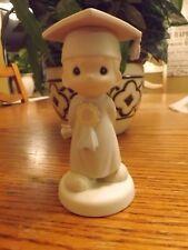 """Precious Moments """"God Bless You"""" Boy Graduate Porcelain Figurine #106194"""