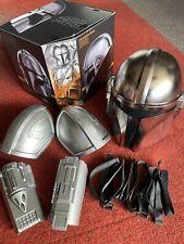 More details for star wars the mandalorian black series helmet + custom arm bracers & pouldrons