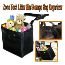 Zone Tech Car Wastebasket Leakproof Trash Holder Litter Bin Storage Bag Console