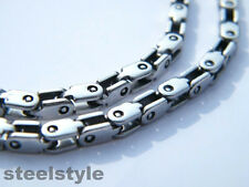 NECKLACE STAINLESS STEEL CLASSIC DESIGN MEN'S JEWELLERY NECKLACE SILVER TONE
