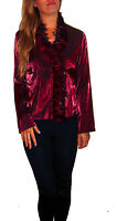 WOMENS LADIES TOGETHER RED FEATHER BLOUSE TOP SHIRT CABERET BURLESQUE UK SIZE 12