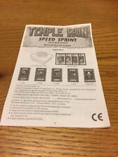 Temple Run Game  Rules Spare Replacement Instructions 2011 2012 Y61